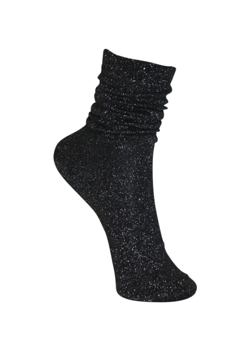 Lurex sock BLACK