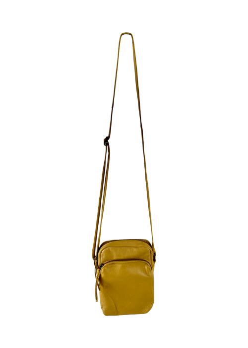 Denise small leather purse MUSTARD