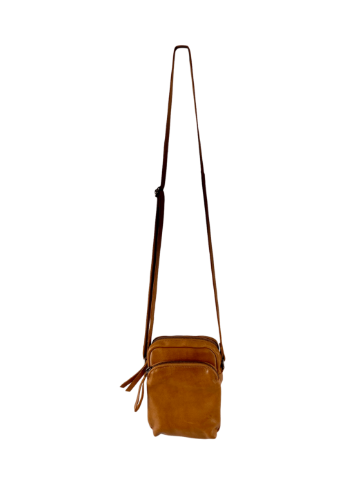 Denise small leather purse TAN