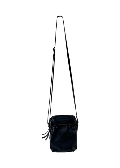 Denise small leather purse BLACK
