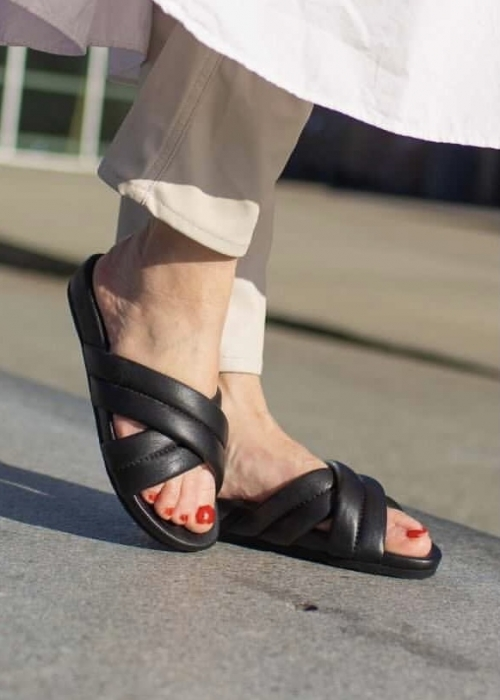 Cos leather sandal BLACK