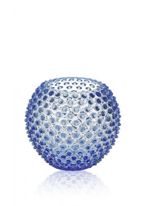 Hobnail Globe Vase 18 cm. LIGHT BLUE