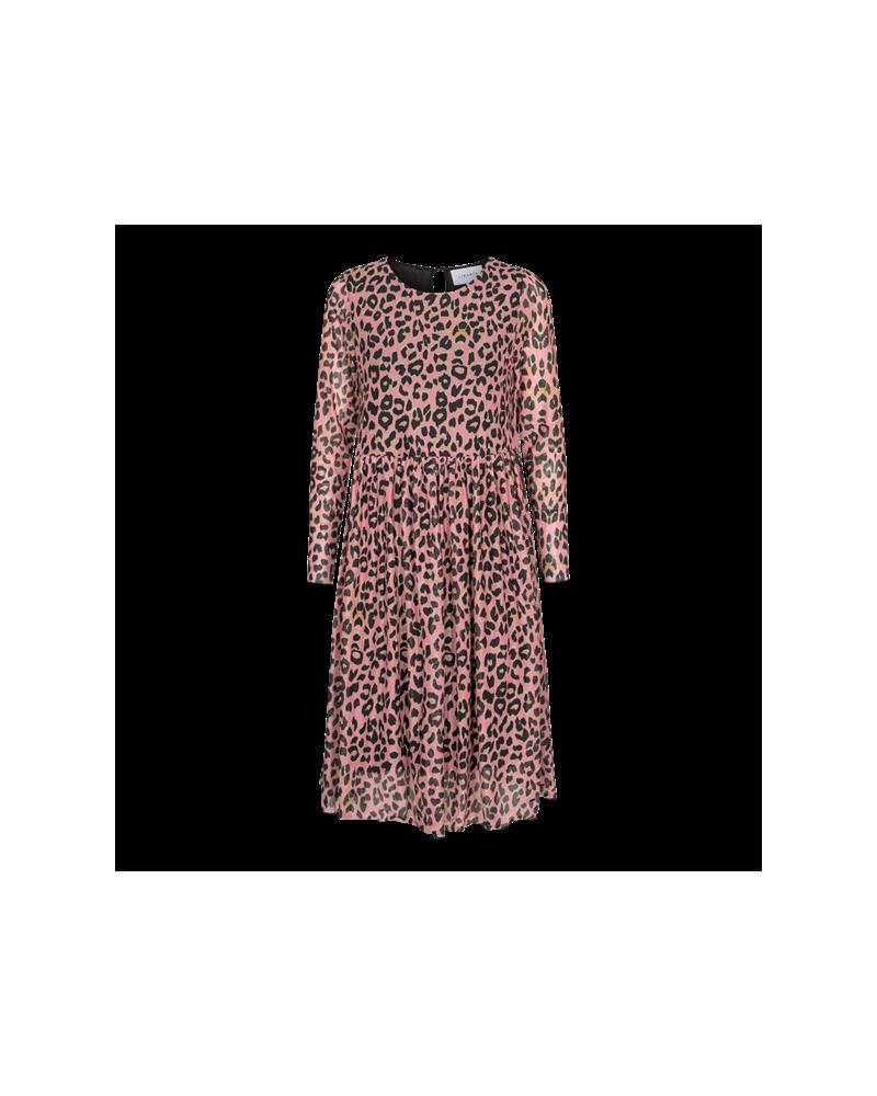 Mesh LS Frill dress ROSE LEO