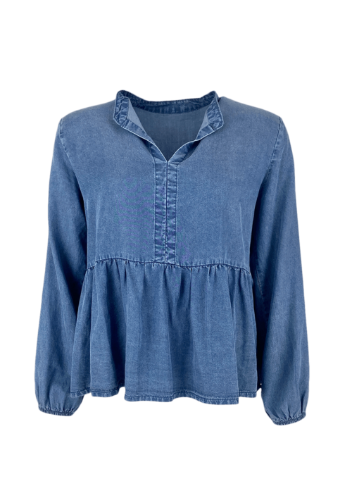 Frigg denim blouse