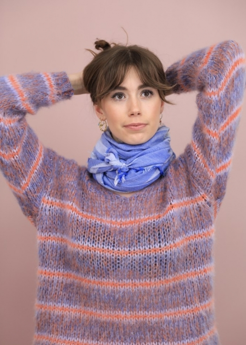 Gemma mohair striped jumper PURPLE