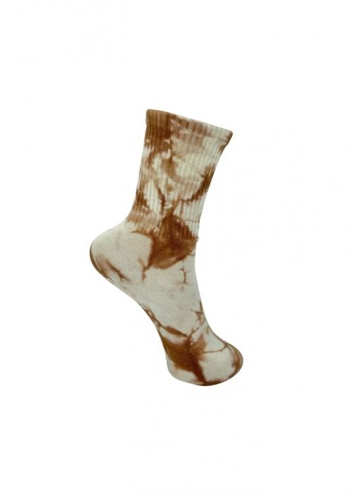 Vegas tie dye sock CAMEL TIE DYE