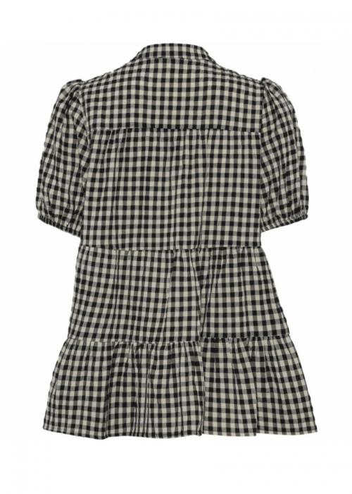 Sanna small check SS shirt BLACK