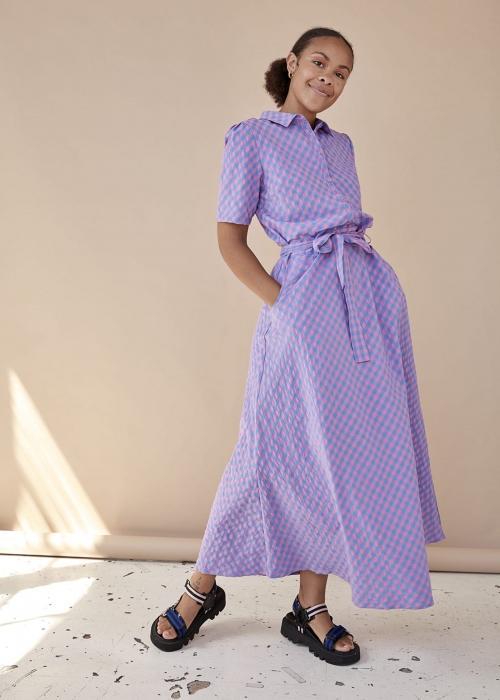 Adelina dress PINK CHECKED