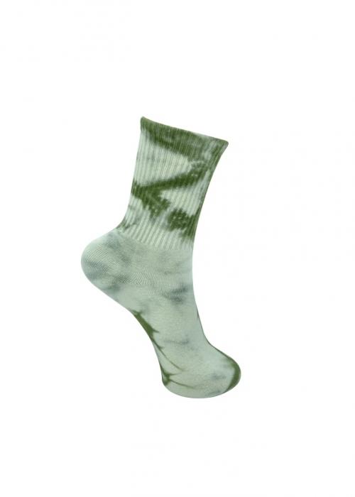 Vegas tie dye sock OLIVE TIE DYE
