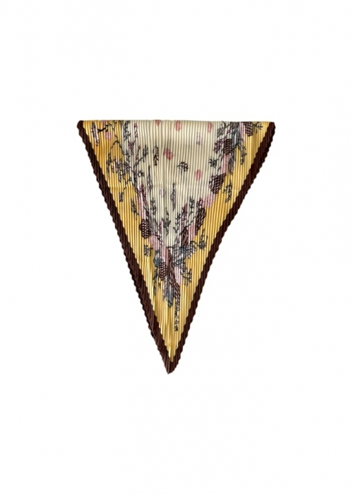 Effy plissé mini scarf LT. YELLOW