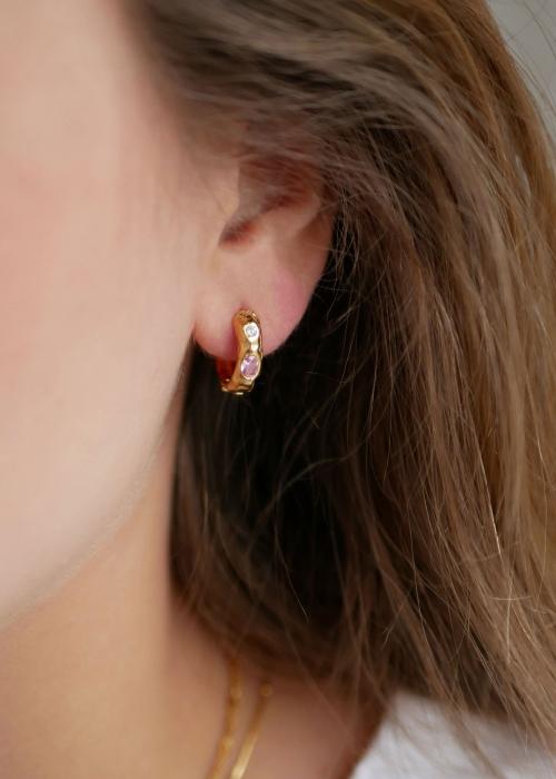 Leonora earring PINK / WHITE