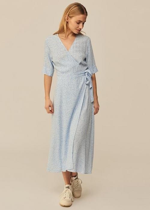 Shubie wrap dress LIGHT BLUE