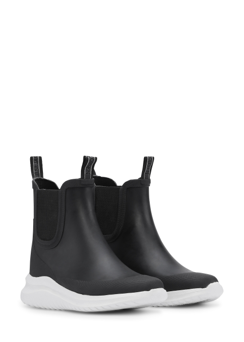 Short rubber boots BLACK