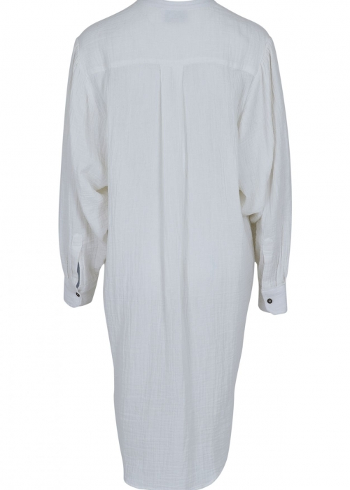 Kendell Gauze Shirt Dress OFF WHITE