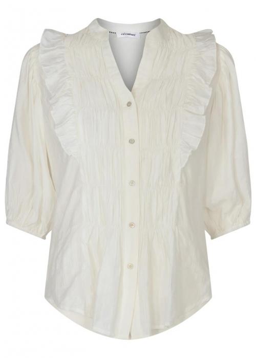Avery smock shirt OFF WHITE