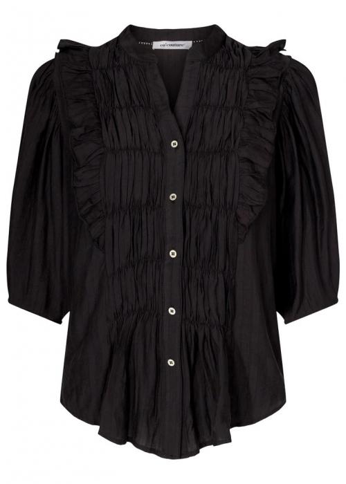 Avery smock shirt BLACK