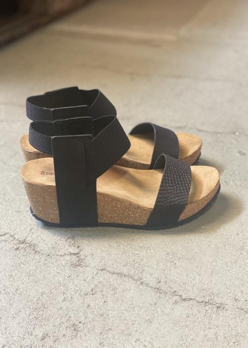 Daniela snake sandal BLACK