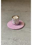 Porcelæns lysestage LAVENDEL