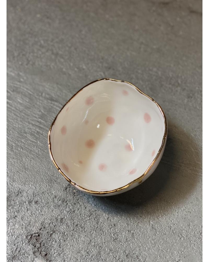 Porcelæns skål 10,5 cm. LYSERØD