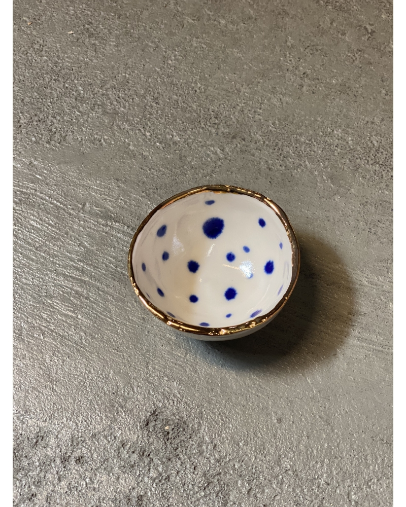 Porcelæns skål 7 cm. BLÅ
