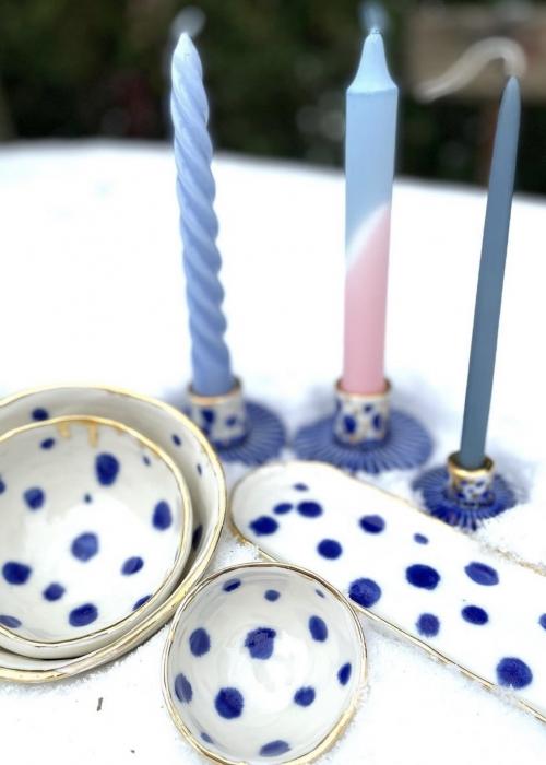 Porcelæns skål 10,5 cm. BLÅ