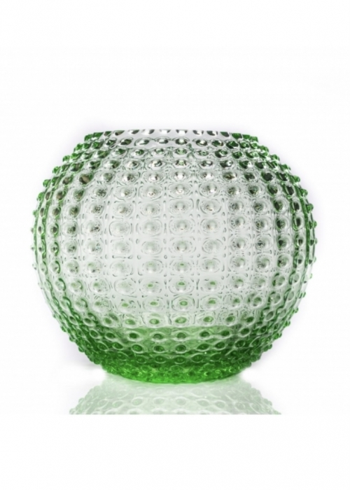 Hobnail Globe Vase 24 cm. LIGHT GREEN