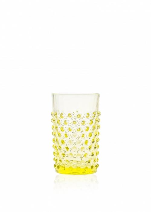 Hobnail drikkeglas CITRON