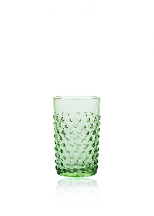 Hobnail drikkeglas LIGHT GREEN