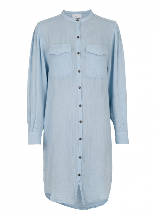 Kendell Gauze Shirt Dress LIGHT BLUE