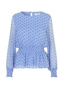 Claret blouse TAMRINA PRINT BLUE