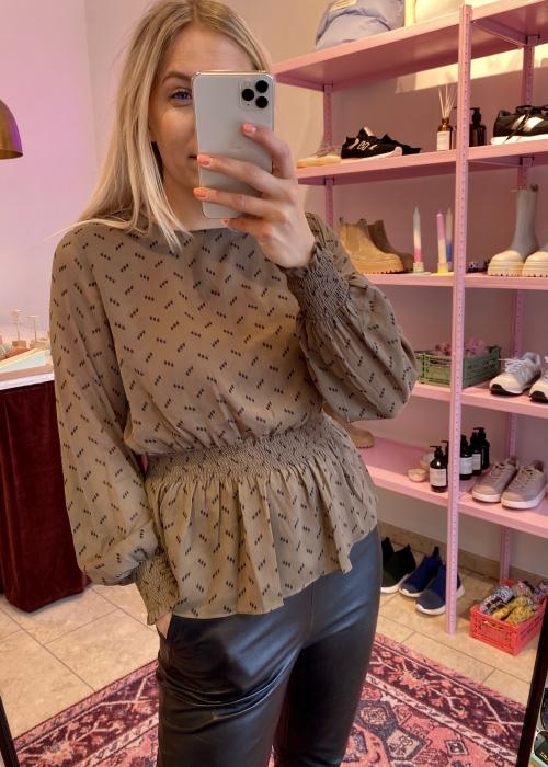 Claret blouse TAMRINA PRINT MOREL
