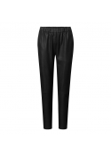Baggy leather pants 50022 BLACK