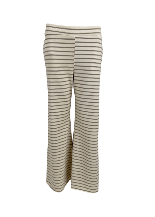 Jamie wide leg sweat pant BEIGE STRIPE