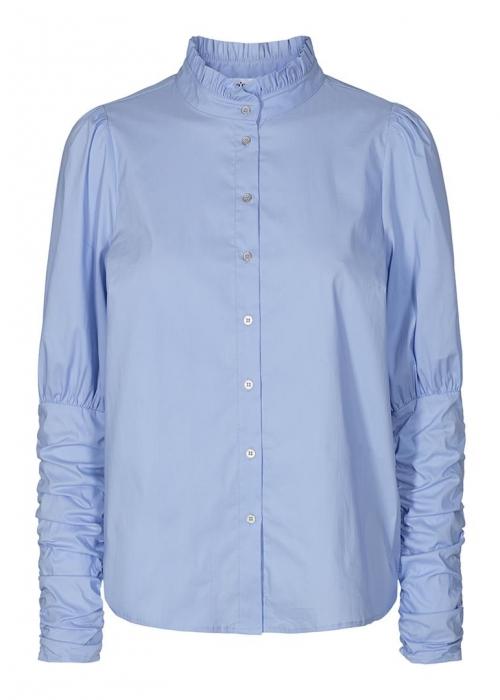 Sandy poplin puff shirt PALE BLUE