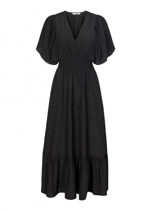 Samia sun smock dress BLACK
