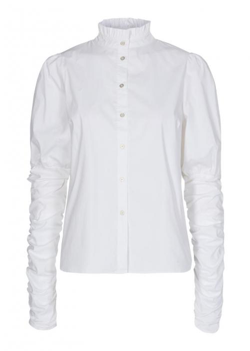 Sandy poplin puff shirt WHITE