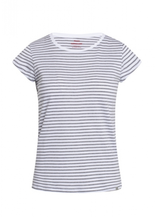 Organic favorite stripe teasy t-shirt WHITE / GREY MELANGE
