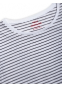Organic favorite stripe teasy t-shirt WHITE / GREY MELANGE