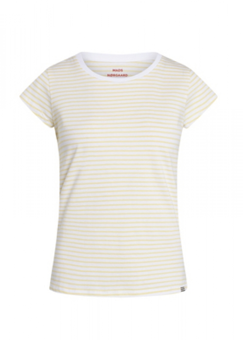 Organic favorite stripe teasy t-shirt WHITE / PALE BANANA