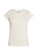Organic favorite stripe teasy t-shirt WHITE / PALE BANANA