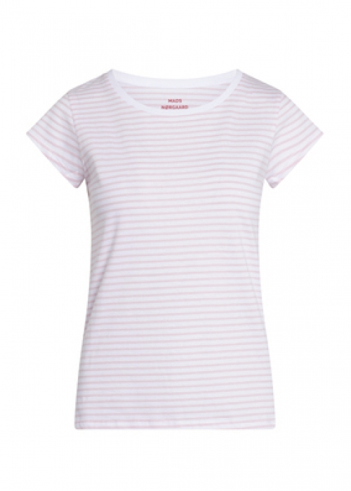 Organic favorite stripe teasy t-shirt WHITE / LIGHT PINK