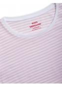 Organic favorite stripe teasy t-shirt WHITE / LIGHT PINK