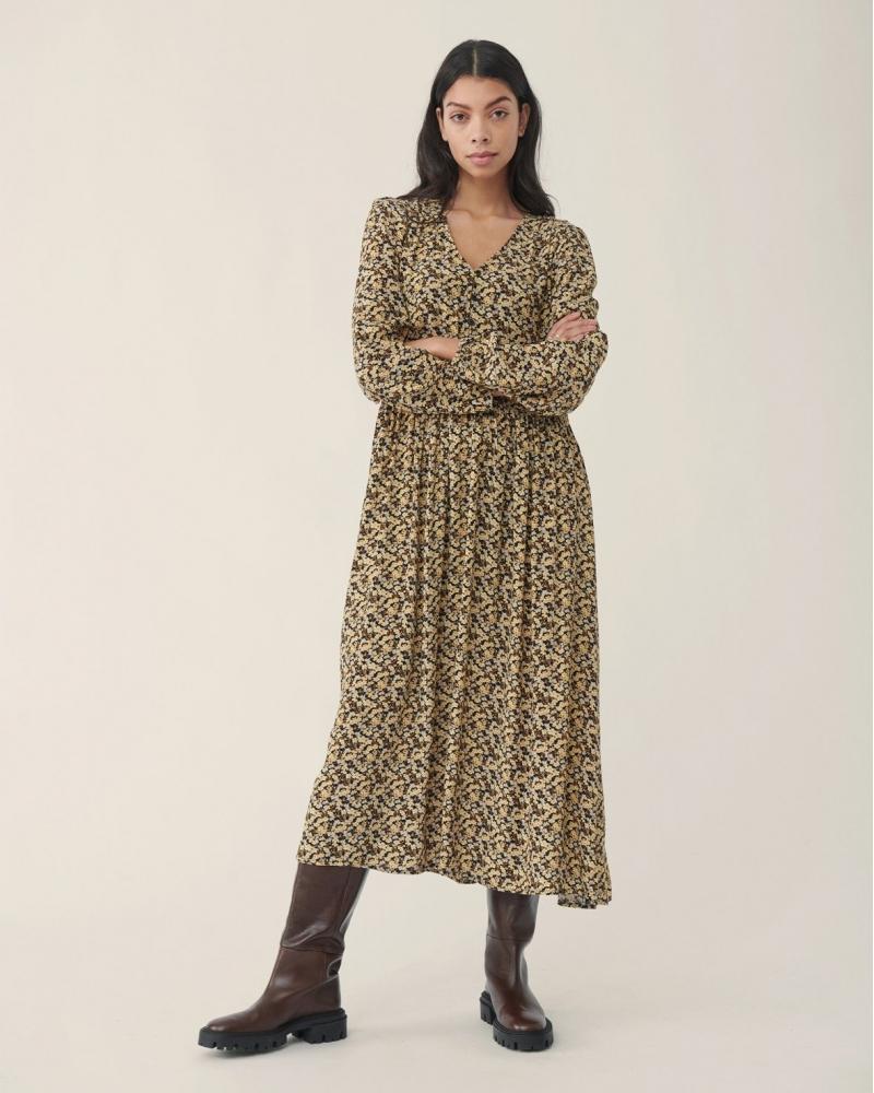 Wilda Morocco Dress BLACK FLOWER