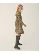 Wilda Morocco LS Short Dress BLACK FLOWER