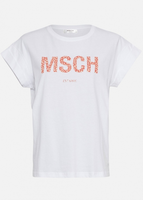Alva MSCH STD Seasonal tee EGRET/F ROSE LEO