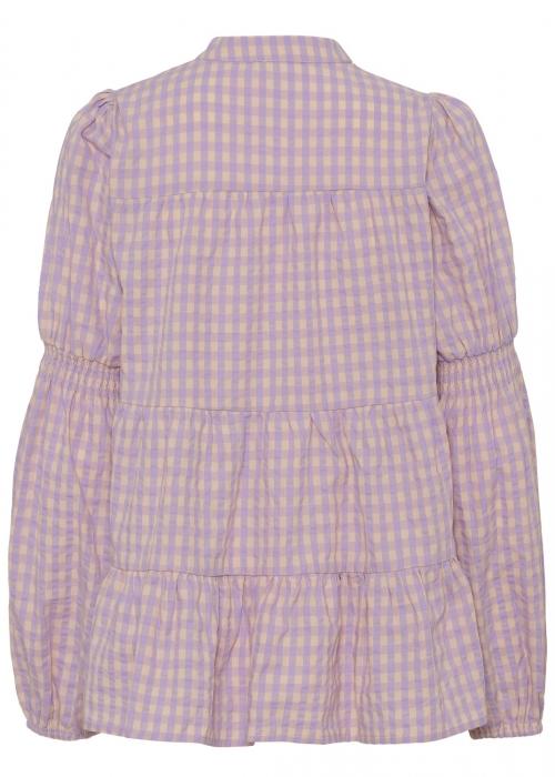Sanna ss shirt PURPLE CHECK