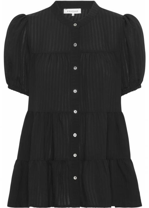 Sanna SS stripe shirt BLACK