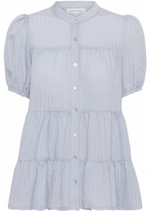 Sanna SS stripe shirt LIGHT BLUE