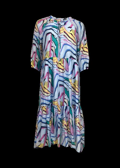 Abella graphic boho dress BLUE GRAPHIC