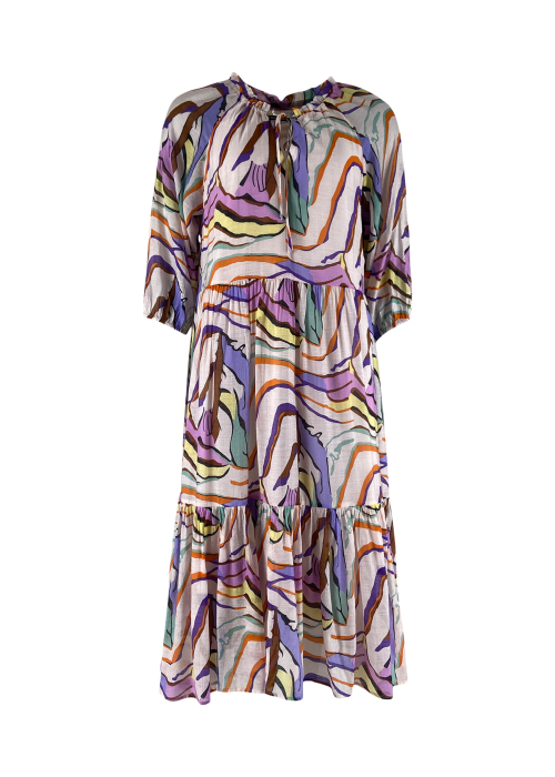 Abella graphic boho dress PURPLE GRAPHIC